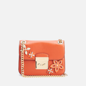 MICHAEL MICHAEL KORS Women's Sloane Flowers Editor Small Chain Shoulder Bag - Orange