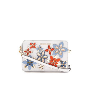 MICHAEL MICHAEL KORS Women's Flowers Pouches Mid Camera Bag - Optic White Multi
