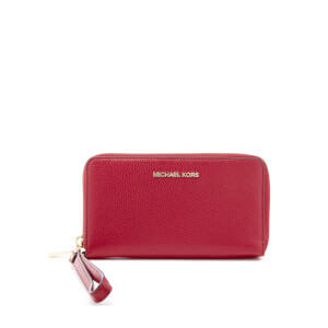 MICHAEL MICHAEL KORS Women's Mercer Large Flat Multifunction Phone Purse - Cherry