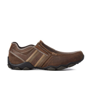 Skechers Men's Diameter Zinroy Leather Slip-On Shoes - Brown