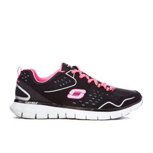 Skechers Women's Synergy Front Row Trainers - Black/Pink