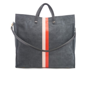 Clare V. Women's Simple Tote Bag - Slate Suede