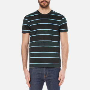 AMI Men's Wide Stripe T-Shirt - Black/Green