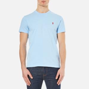 AMI Men's Heart Logo T-Shirt - Sky Blue