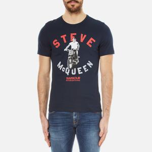 Barbour X Steve McQueen Men's Leap T-Shirt - Navy