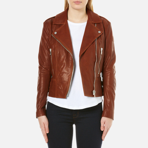 Belstaff Women's Marving-T 2.0 Lambskin Leather Jacket - Umber Brown