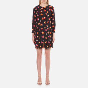 Boutique Moschino Women's Heart Print Shift Dress - Black