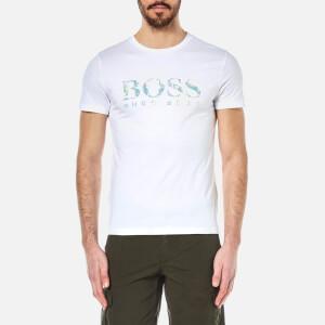 BOSS Orange Men's Tacket 1 Large Logo T-Shirt - White