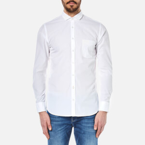 BOSS Orange Men's Cattitude Plain Shirt - White