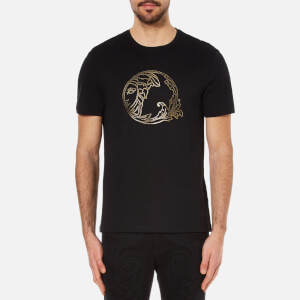 Versace Collection Men's Medusa Beaded Printed T-Shirt - Black
