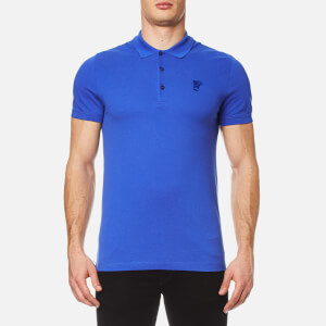 Versace Collection Men's Pique Polo Shirt - Blue