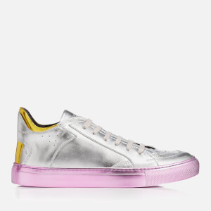 MM6 Maison Margiela Women's Metallic Block Colour Trainers - Silver/Yellow