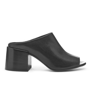 MM6 Maison Margiela Women's Open Toe Slip-On Block Heel Shoes - Black