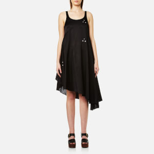 MM6 Maison Margiela Women's Midi Dress with Popper Detail - Black