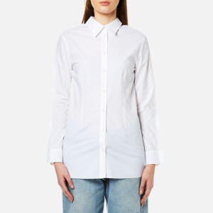 MM6 Maison Margiela Women's Double Collared Button Back Shirt - White