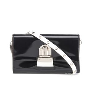 MM6 Maison Margiela Women's Fold Over Cross Body Bag - Black