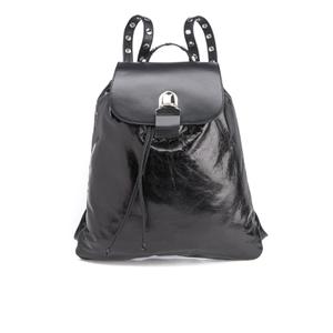 MM6 Maison Margiela Women's Backpack with Popper Detail - Black