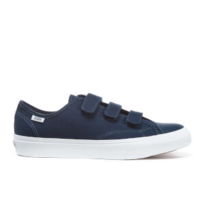 Vans Men's Prison Issue Canvas Triple Velcro Trainers - Dress Blues/True White
