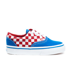 Vans Toddlers' Era Checkerboard Trainers - Racing Red/Imperial Blue