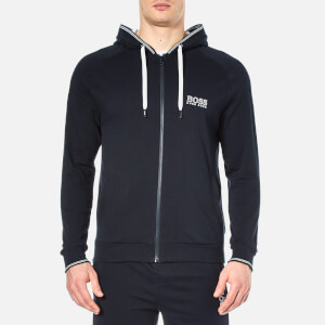 BOSS Hugo Boss Men's Zipped Hooded Sweatshirt - Navy
