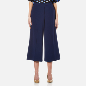 Boutique Moschino Women's Wide Leg Culottes - Navy
