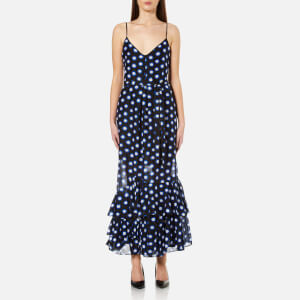 Boutique Moschino Women's Dotted Strappy Maxi Dress - Blue