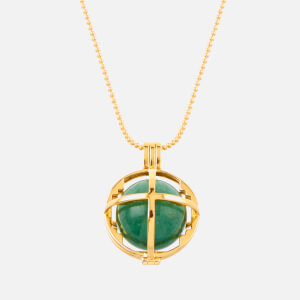 Kiki Minchin Women's The Roxy Cage Necklace - Jade Green/Gold
