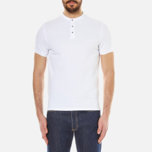 Selected Homme Men's Drody Short Sleeve Polo-Shirt - Bright White