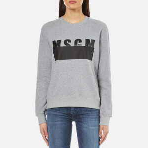 MSGM Women's Printed Sweatshirt - Grey