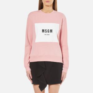 MSGM Women's Logo Panel Jumper - Pink