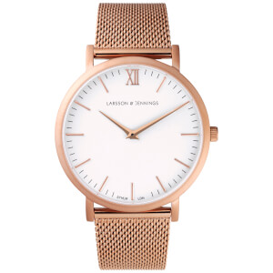 Larsson & Jennings Lugano 40mm Rose Gold Chain Metal Watch - Rose Gold Metal