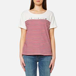 Maison Scotch Women's French Inspired Short Sleeve T-Shirt - White
