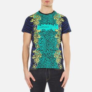 Versace Jeans Men's Leopard Print T-Shirt - Blue