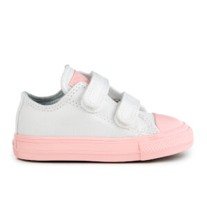 Converse Toddlers' Chuck Taylor All Star II 2V Ox Trainers - White/Vapor Pink