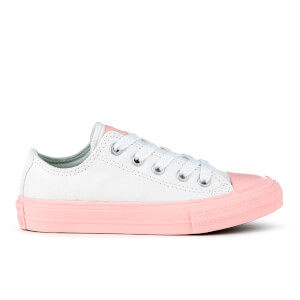 Converse Kids' Chuck Taylor All Star II Ox Trainers - White/Vapor Pink