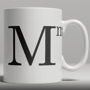 Alphabet Ceramic Mug - Letter M