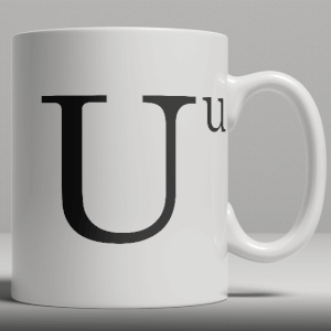 Alphabet Ceramic Mug - Letter U