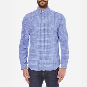 Polo Ralph Lauren Men's Long Sleeved Shirt - Blue/Navy