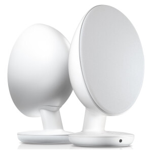 KEF EGG Bluetooth Stereo Speakers - White