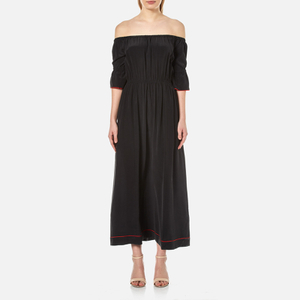 Ganni Women's Grace Silk Maxi Dress - Black