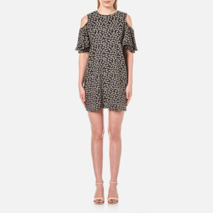 Ganni Women's Grenville Jacquard Dress - Total Eclipse