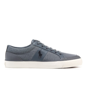 Polo Ralph Lauren Men's Ian Vintage Cotton Trainers - Slate