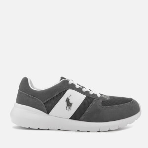 Polo Ralph Lauren Men's Cordell Sportsuede/Gridmesh Trainers - Charcoal Grey