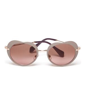 Miu Miu Women's Heart Sunglasses - Matte Beige