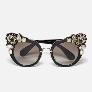 Miu Miu Women's Couture Cat Eye Sunglasses - Black