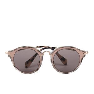 Miu Miu Women's Noir Metal Rim Frame Sunglasses - Matte Pink