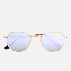 Ray-Ban Hexagonal Metal Frame Sunglasses - Gold/Wisteria Flash