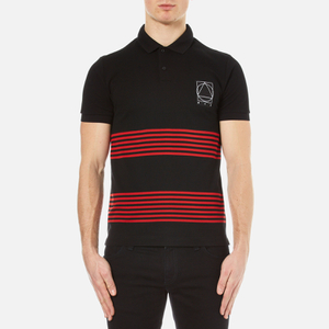 McQ Alexander McQueen Men's Clean Polo Shirt - Black/Red