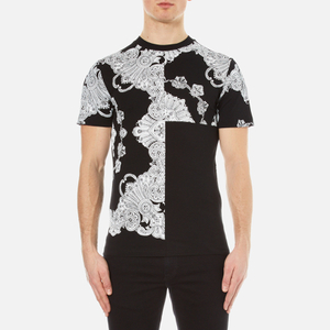 McQ Alexander McQueen Men's Short Sleeve Crew Neck Paisley T-Shirt - Darkest Black