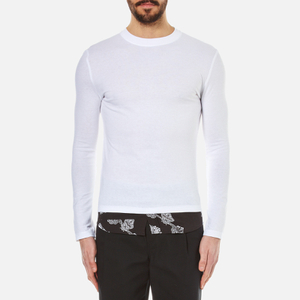 McQ Alexander McQueen Men's Recycled Paisley Long Sleeved T-Shirt - Optic White
